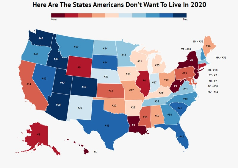 Here Are The States Where Americans Don't Want To Live Anymore In 2020 - Zippia