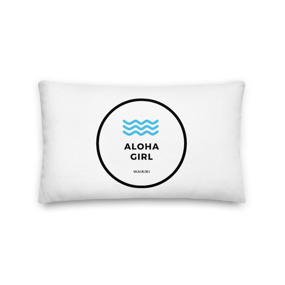 Premium Pillow Aloha Girl