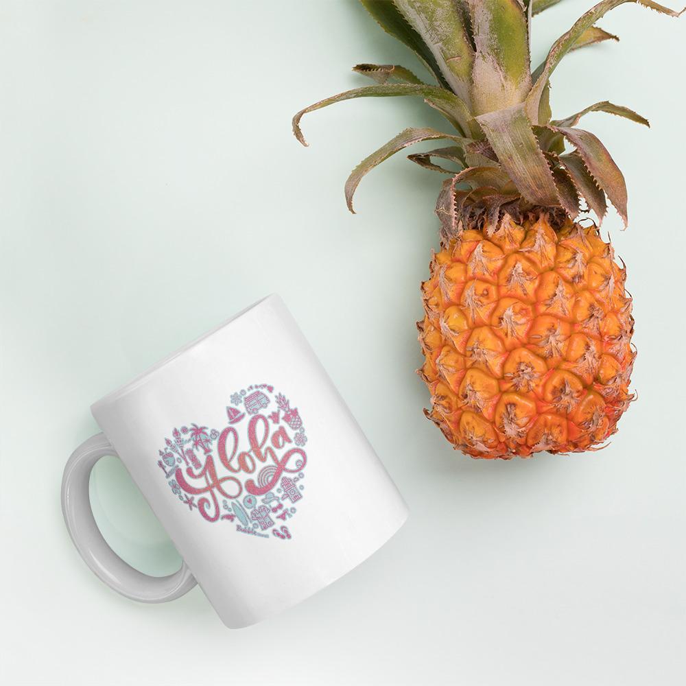 マグカップ- Pink Aloha Heart