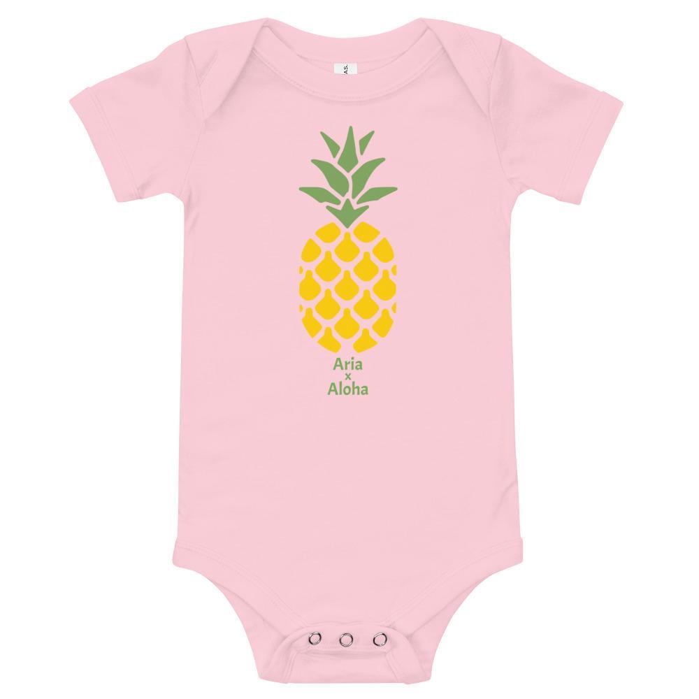 《Kids name x Aloha》 Original rompers pineapple