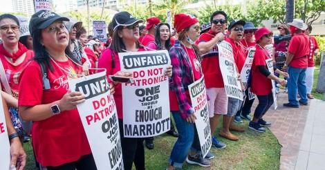 1カ月以上続くハワイのホテルスト騒動!時給$39を求めて終わらない!? | ALOHA GIRL